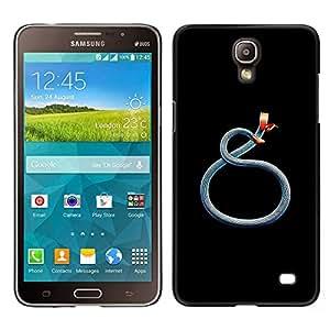 Azul del trullo Red Serpiente Minimalista Negro- Metal de aluminio y de plástico duro Caja del teléfono - Negro - Samsung Galaxy Mega 2