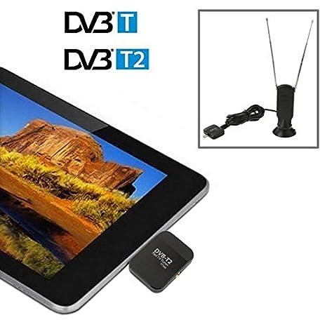 Micro USB TV Digital Receptor/móvil reloj DVB-T2 sintonizador de TV Stick para Teléfonos Android/Pad: Amazon.es: Electrónica