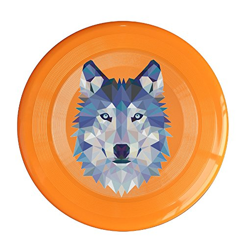 Uhouq Wolf Animals Retro Flying Saucer Size One Size Orange (Rangers Blog)