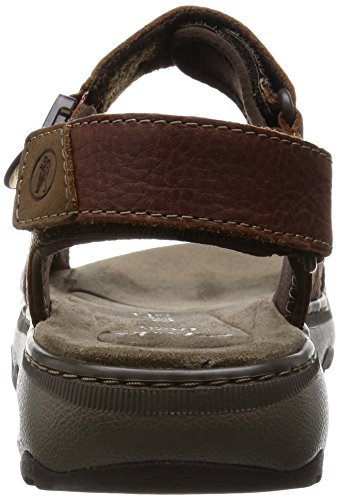 Uomo Raffe Clarks Marrone da Leather Sandalo Sun Brown OIdwHPqx