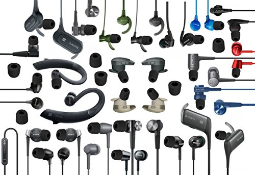 12 pcs S//M//L Hybrid and Memory Foam Replacement Set Earbuds Eartips Adapters Compatible with Sony in-Ear Earphone Headsets BHB-BMF-sB