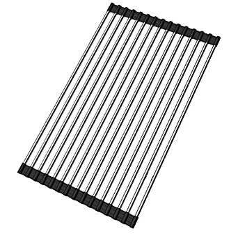 Amazon.com: Roll up Dish Drying Rack Over Sink Stainless
