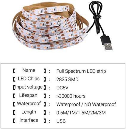 cinta LED Phyto para plantas de invernadero hidrop/ónicas Luz de cultivo de plantas de espectro completo con 2835 cuentas de l/ámpara FANMU