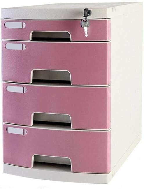 Size : Medium 4-Layers File cabinet File Cabinet Storage Unit Organizer Small White Label Anti-Off Buckle Office Supplies File Documents Plastic Office Supplies