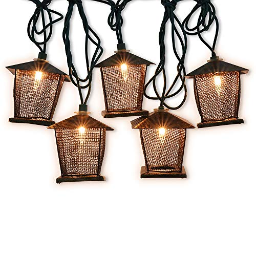 - LIDORE 10 Counts Vintage Bronze Iron Nets Lanterns Plug-in String Lights. Great for Indoor/Outdoor Decoration. Best Ambience Decorative Lights. Warm White Glow.