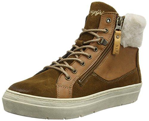 zapatillas cuero deportivas brown marrón mujer altas tabacco N41 de Napapijri Braun Fiona H6wWx5
