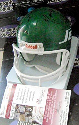 Autograph Warehouse 345225 Sack Exchange Signed Mini Helmet Mark Gastineau Abdul Salaam Joe Klecko Marty Lyons - New York Jets JSA Hologram Authentication