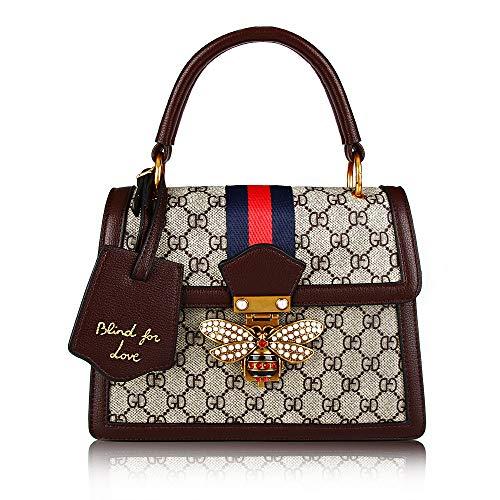 Designer Buckle (Beatfull Designer Women HandbagS, Retro Shoulder Bag Ladies Bee Bag Top Handle Hanfbag (COFFEE))