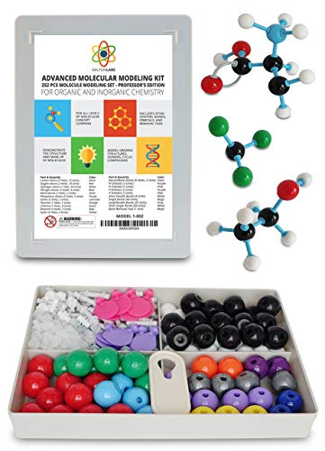 Molecular Model Kit with Molecule Modeling Software and User Guide - Organic, Inorganic Chemistry Set for Building Molecules - Dalton Labs 252 Pcs Advanced Chem Biochemistry Student Edition