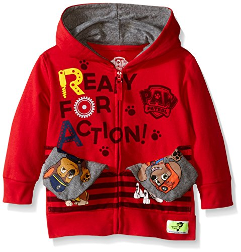 Pocket Frenz® Paw Patrol Toddler Boys Hoodie, Red, 4T
