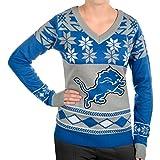 NFL Women's V-Neck Sweater, Detroit Lions, Small