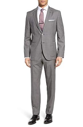 8874aa4020 Amazon.com: Hugo Boss Men's 'Janon/Lenon' Regular Fit Italian Wool ...