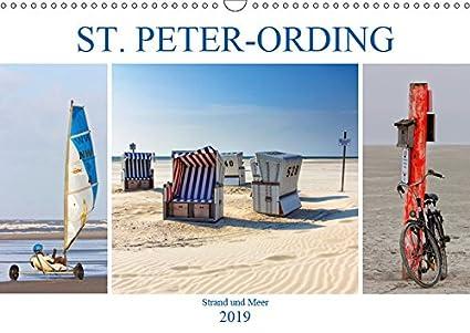 ST. PETER ORDING Strand und Meer (Wandkalender 2019 DIN A3 quer): Impressionen von der Halbinsel Eiderstedt (Monatskalender, 14 Seiten ) (CALVENDO Natur)