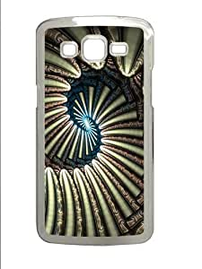 Abstract Stripes Polycarbonate Hard Case Cover for Samsung Grand 2/Samsung Grand 7106 Transparent