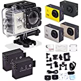 Sports Camera - Peyou® SJ4000 Action Sport Cam Camera 1080P 30fps H.264 1.5 Inch 170 Degree Wide Angle Outdoor Sports Home Security HD DV/CAR DVR/Camera recorder + Waterproof case + Bicycle stand + (2PCS RECHARGEABLE BATTERY) + Helmet base + Standard US AC charger + Adapter + Other Useful Accessaries Kits