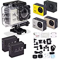 Sports Camera - Peyou SJ4000 Action Sport Cam Camera 1080P 30fps H.264 1.5 Inch 170 Degree Wide Angle Outdoor Sports Home Security HD DV/CAR DVR/Camera recorder + Waterproof case + Bicycle stand + (2PCS RECHARGEABLE BATTERY) + Helmet base + Standard US AC charger + Adapter + Other Useful Accessaries Kits