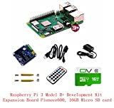 Pzsmocn Raspberry Pi 3 Model B+ Development Kit,Third Generation Pi, Contain Expansion Board Pioneer600,16GB Micro SD Card,Accessories,Power Adapter,Infrared Remote Controller.