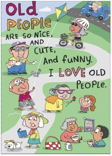 Amazon Happy Birthday Humour Funny New Card I Love Old People