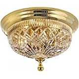 """Waterford Beaumont 12"""" Ceiling Fixture with Polished Brass Finish"""