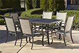 Cosco Outdoor 7 Piece Serene Ridge Aluminum Patio Dining Set, Dark Brown Review