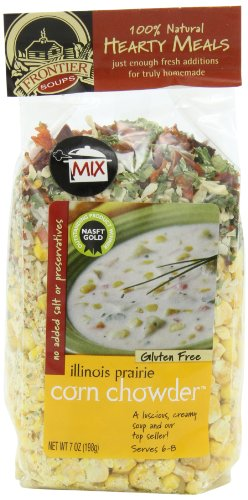 Frontier Soups Hearty Meals Illinois Prairie Corn Chowder, 7-Ounce Bags (Pack of 4) (Potato And Corn Chowder)