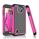 LG K3 2017 Case, Tinysaturn [YSaturn Series] [Hot Pink] Hybrid Shock Absorbing Rubber Plastic Scratch-Proof Rugged Armor Defender Bumper [Drop Protection] Cover Case For LG K3 2017 / LG US 110 Review