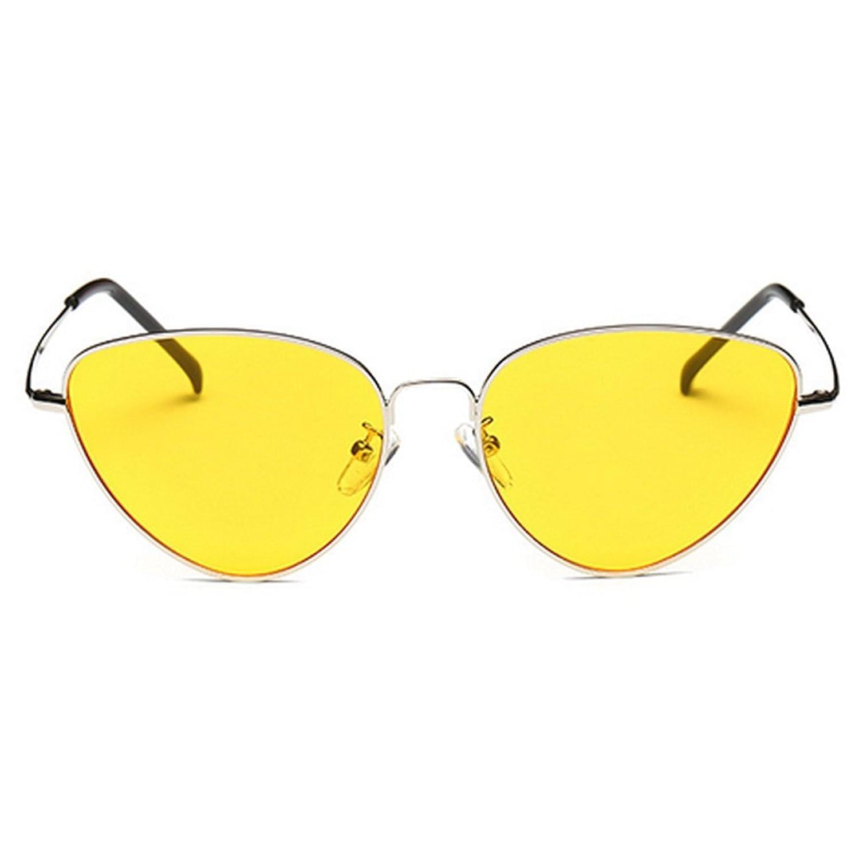 OUTEYE Unisex Sonnenbrille Katzenaugen Brillen Retro Metallrahmen ...