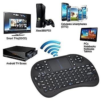 TRIXES Almohadilla Táctil Mini Inalámbrica Teclado Ratón controlador para PC TV: Amazon.es: Electrónica