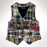 Product review for Polo Ralph Lauren Boy's Madras Patch Button Front Vest