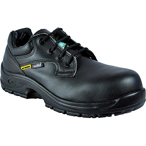 Cofra 10211-CU5.W10, 5 Solid SD+ PR Safety Shoes, 10.5, Black