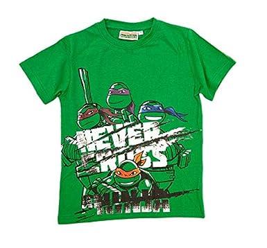 TORTUGAS NINJA - Camiseta, Color Verde, Talla 14: Amazon.es ...