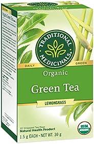 Traditional Medicinals Organic Green Tea With Lemongrass, 20 tea bags, 30g