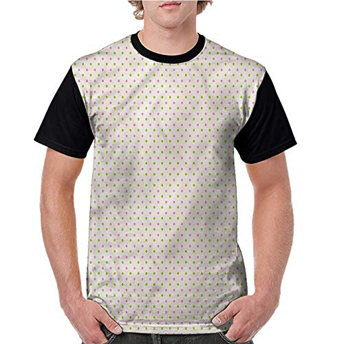 Lightly Women's Short Sleeve,Retrp,Colorful Retro Polka Dots S-XXL Casual Shirts