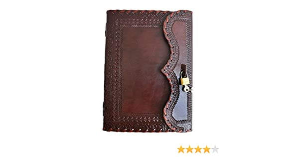 Handmade genuine Leather journal diary personal notebook blank notebook sketch book secret diary with lock & Key