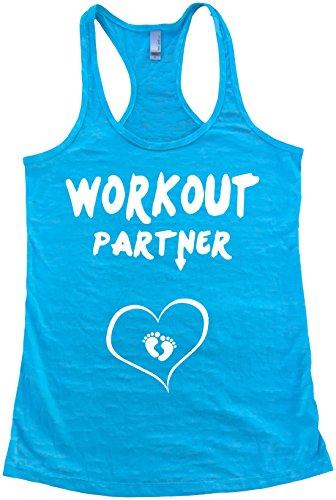 Workout Partner Burnout Tank Top (XL, Tahiti Blue)