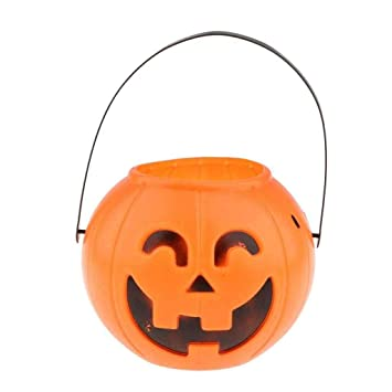 Halloween Candy Prank.Emono Pumpkin Candy Holder Trick Or Treat Halloween Candy Bucket Prank Tool Without Light Halloween Decorations Multi Color Amazon In Toys Games