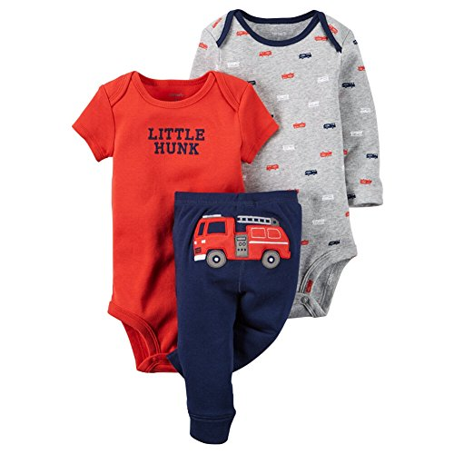 Carters Baby Boys 3-Piece Little Character Set Fire Engine, Red, 24M