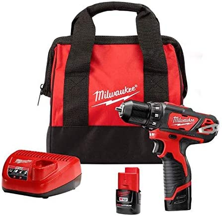 Milwaukee 2407-22 M12 3 8-Inch Drill Driver Kit