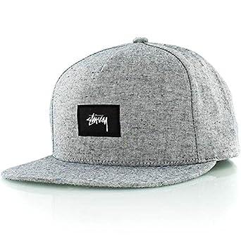 bbc23b93964 Stussy Speckled Snapback Cap Grey Melange  Amazon.co.uk  Clothing