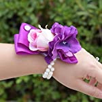 Abbie-Home-Wrist-Corsage-for-Bridesmaid-Purple-Orchid-Pink-Rose-Hand-Flower-Dcor-on-Prom-Wedding-Party