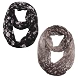 Women Thin Lightweight Infinity Scarf – New Fashion Design Printed Soft Scarfs Wraps Shawls For Spring Summer Ideal Gift, Light, Soft, Elegant