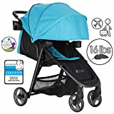 ZOE XLT DELUXE Full-Sized Lightweight Travel & Everyday Umbrella Stroller System (Aqua)