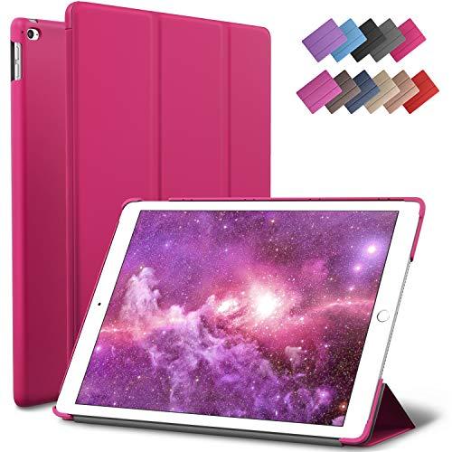 ROARTZ iPad Mini 4 case, Magenta Slim Fit Smart Rubber Coated Folio Case Hard Cover Light-Weight Auto Wake/Sleep for Apple iPad Mini 4th Generation Model A1538/A1550 Retina Display