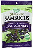 Nature's Way Organic Lozenge, Elderberry Zinc, 24 lozenges, 2 Count.