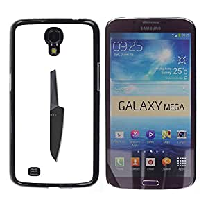 MobileHut / Samsung Galaxy Mega 6.3 I9200 SGH-i527 / Knife Black White Chef Cooking / Delgado Negro Plástico caso cubierta Shell Armor Funda Case Cover
