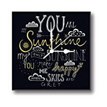 Giftsmate Mothers Day Gifts You Are My Sunshine Wall Clock