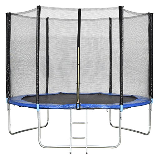 Giantex Trampoline Combo Bounce Jump Safety Enclosure Net W Spring Pad Ladder