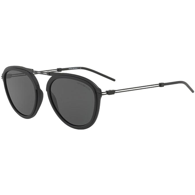 Emporio Armani 300187, Gafas de Sol para Hombre, Matte Black, 53