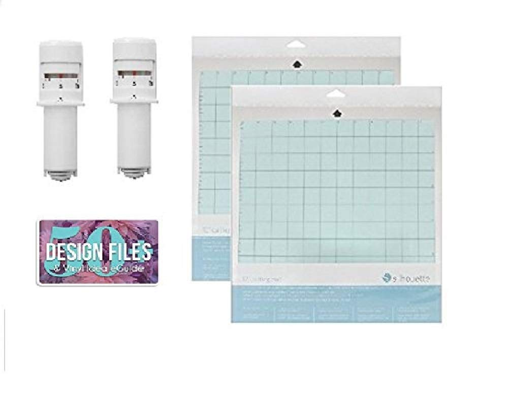 2 Silhouette Cameo 3 Autoblades and 2-12 x 12 Inch Silhouette Cameo Cutting Mats
