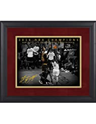 "LeBron James Cleveland Cavaliers Framed 11"" x 14"" NBA Finals Game 7 Chasedown Block Moments Spotlight - Facsimile Signature"